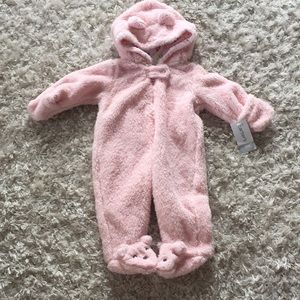 NWT baby Sherpa bear footed one piece outfits coat